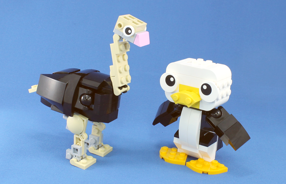 レゴキャット&マウスがダチョウ&ペンギンに変身