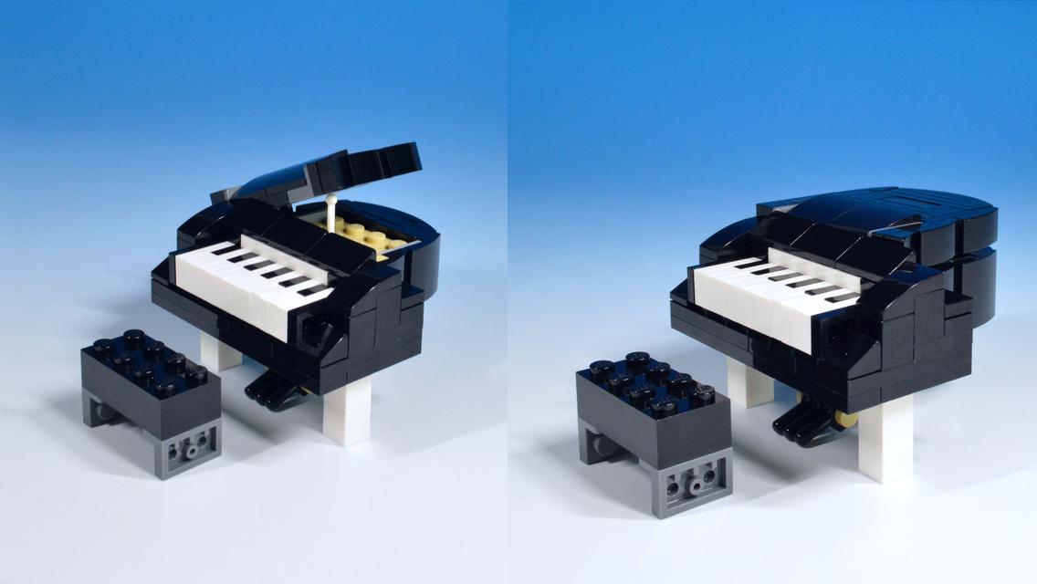 レゴキャット&マウスがピアノに